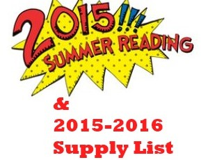 2015 -2016 Summer Reading & Supply List