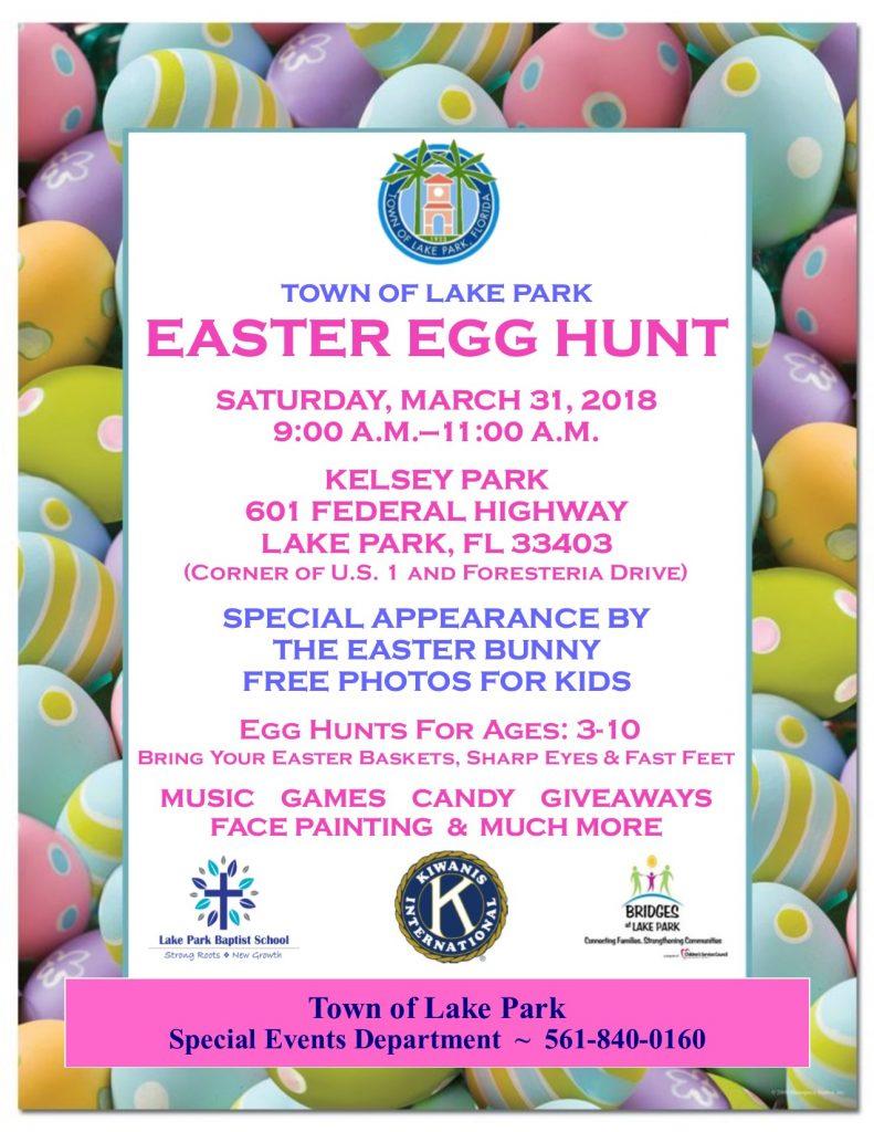 2018 Easter Egg Hunt Flyer